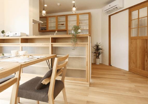 キッチン、収納、 ダイニングテーブル