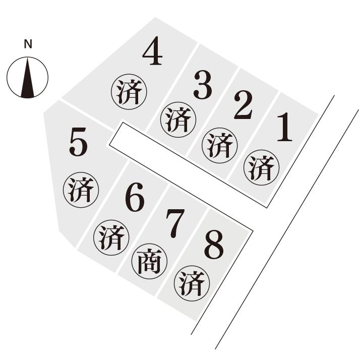 枚田分譲地(8区画)